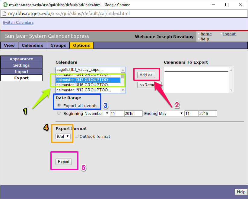 select-add-calendar-to-export